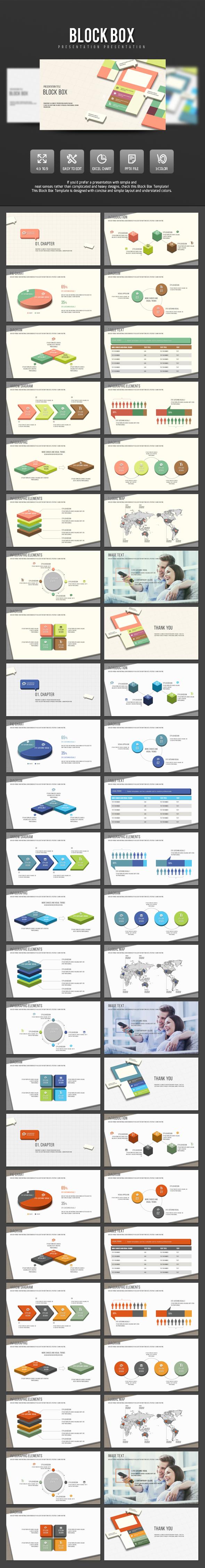 Block Box  - PowerPoint Templates Presentation Templates