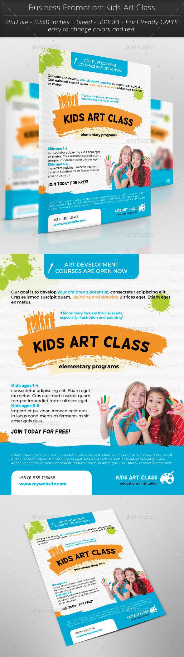 Business Promotion: Kids Art Class - Flyers Print Templates