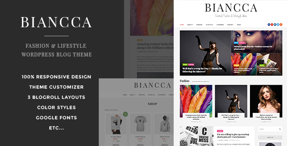 Biancca Fashion & Lifestyle WordPress Blog Theme