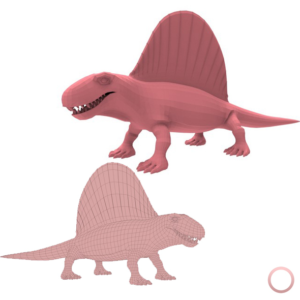 Dimetrodon Base Mesh - 3DOcean Item for Sale