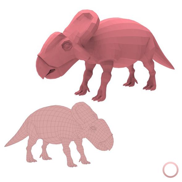 Protoceratops Base Mesh