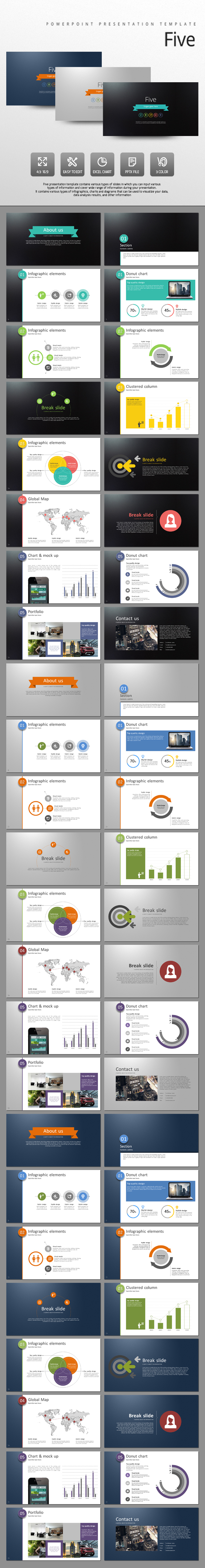 Five - PowerPoint Templates Presentation Templates