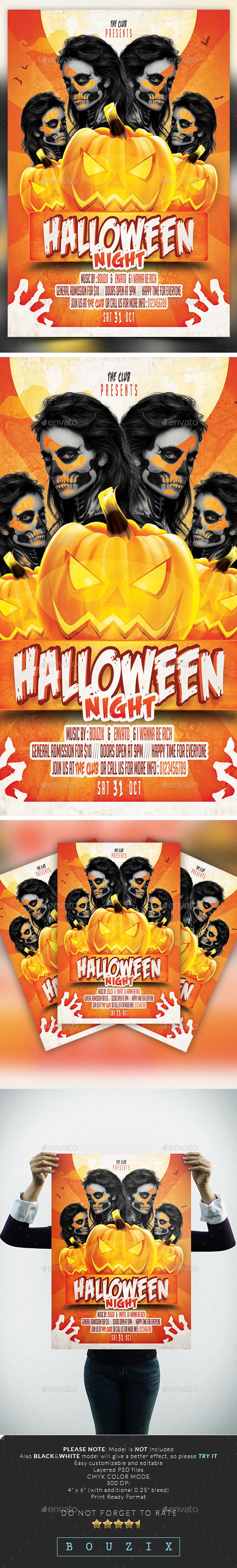 Halloween Night - Flyers Print Templates