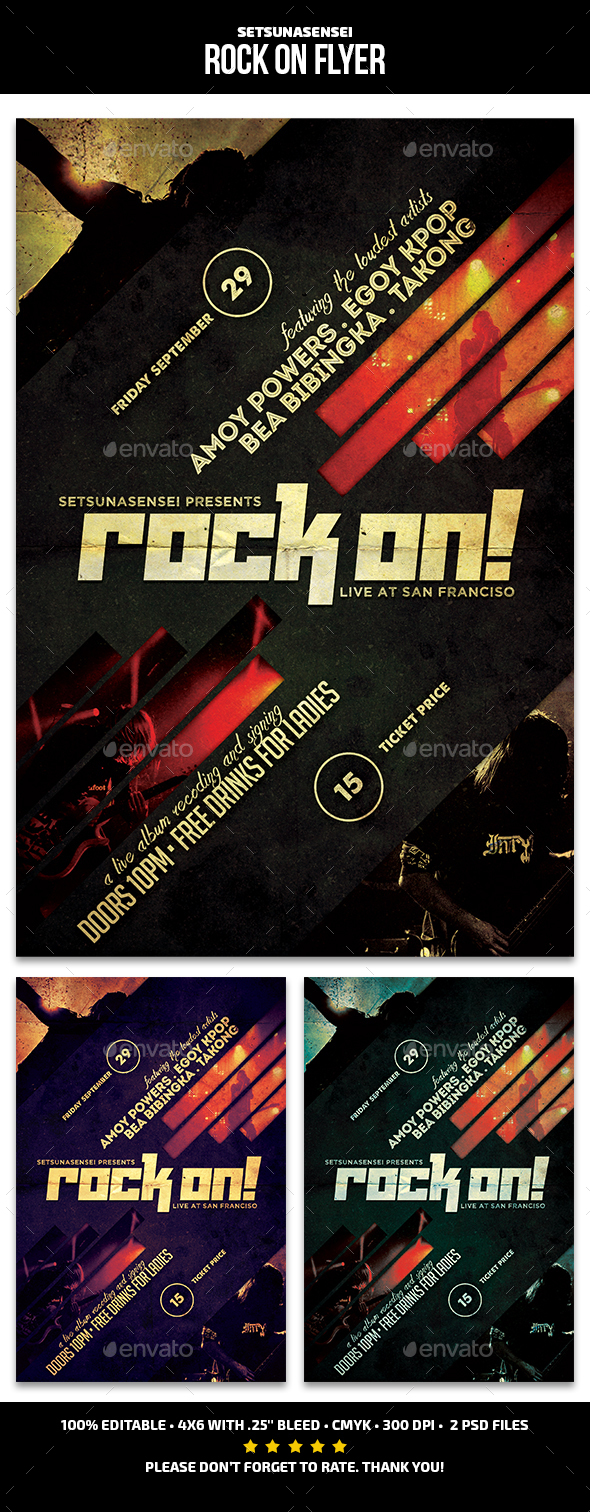 Rock On Flyer - Concerts Events