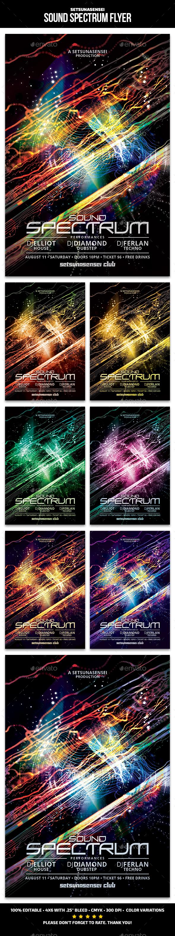 Sound Spectrum Flyer - Clubs & Parties Events