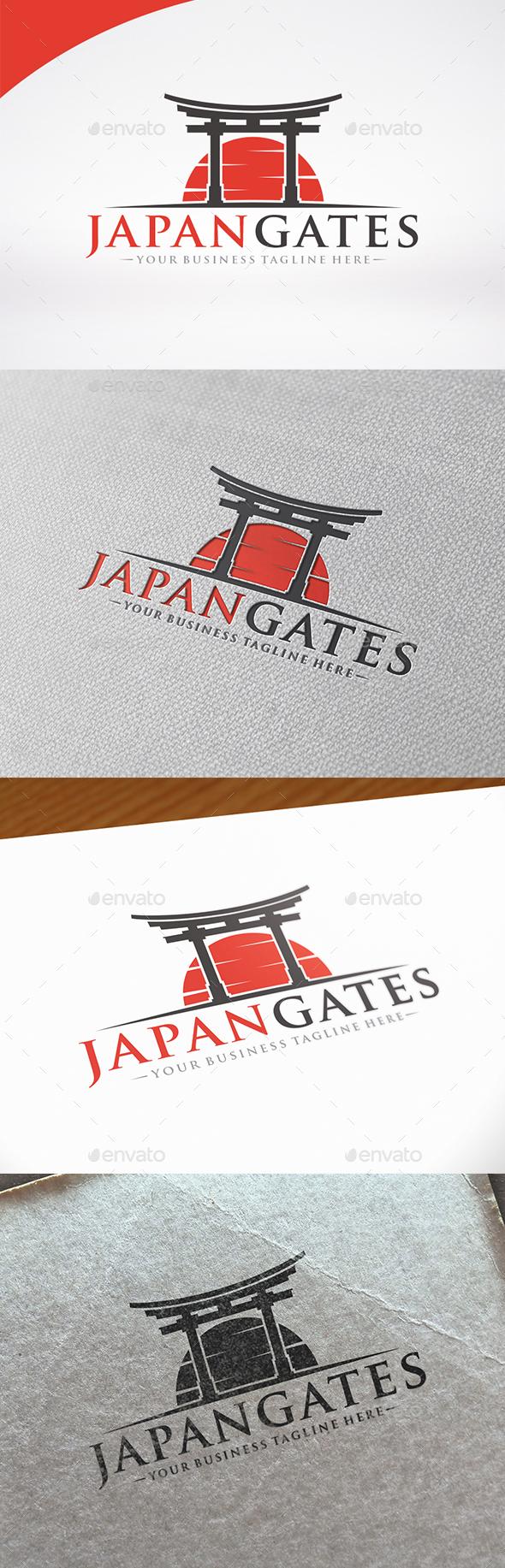 Japan Gate Logo Template - Buildings Logo Templates