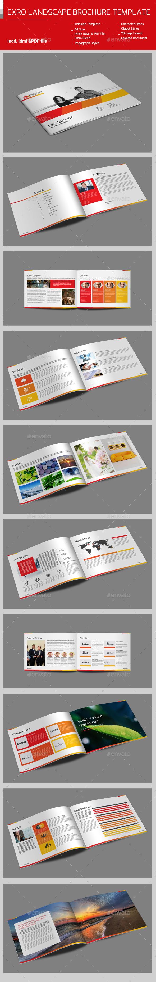 Exro Landscape BrochureTemplate - Corporate Brochures