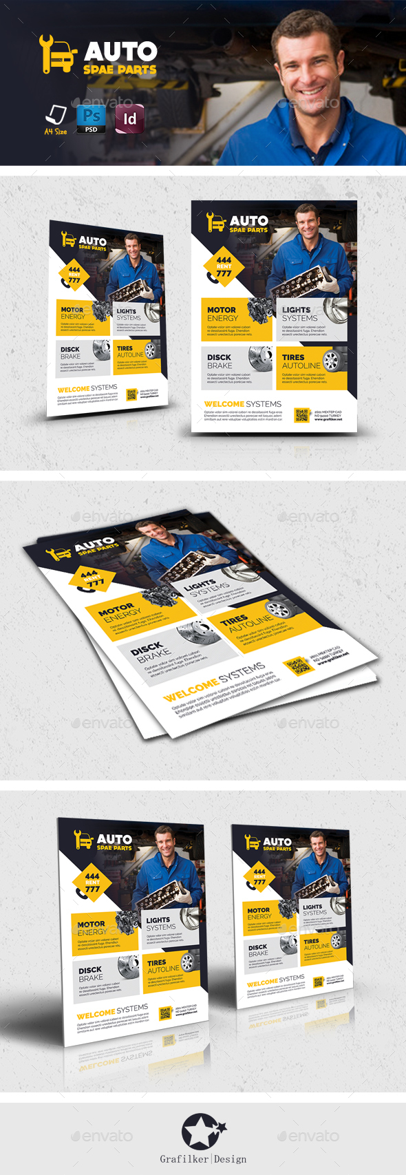 Auto Spare Part Flyer Templates - Corporate Flyers