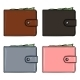 Vector Set Of Cartoon Color Leather Wallets.  - GraphicRiver Item for Sale