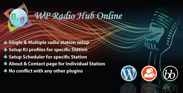 WP Radio Hub Online - CodeCanyon Item for Sale