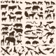 Vector Big Set Of Animals Silhouettes. - GraphicRiver Item for Sale