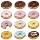 Vector Set Of Cartoon Color Doughnuts - GraphicRiver Item for Sale