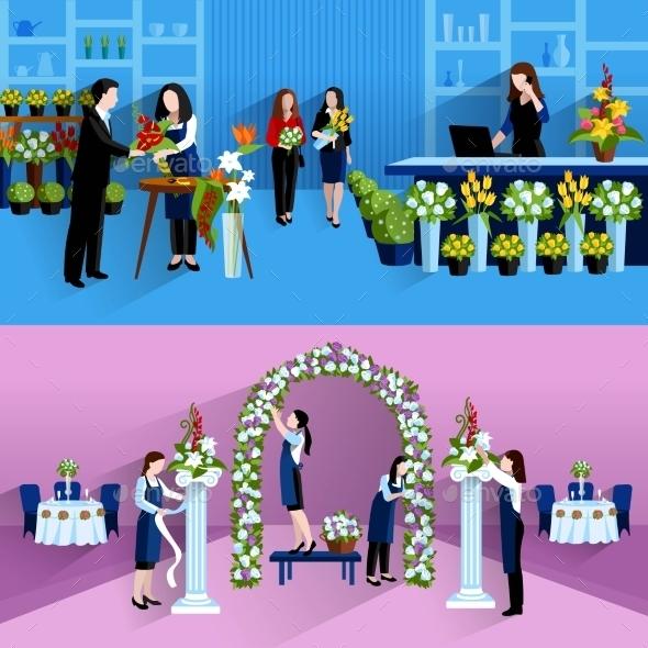 Flowers Bouquet Arrangement Florist Service - Services Commercial / Shopping
