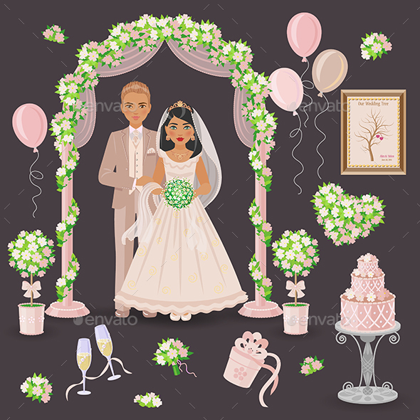 Cream and Green Wedding Design