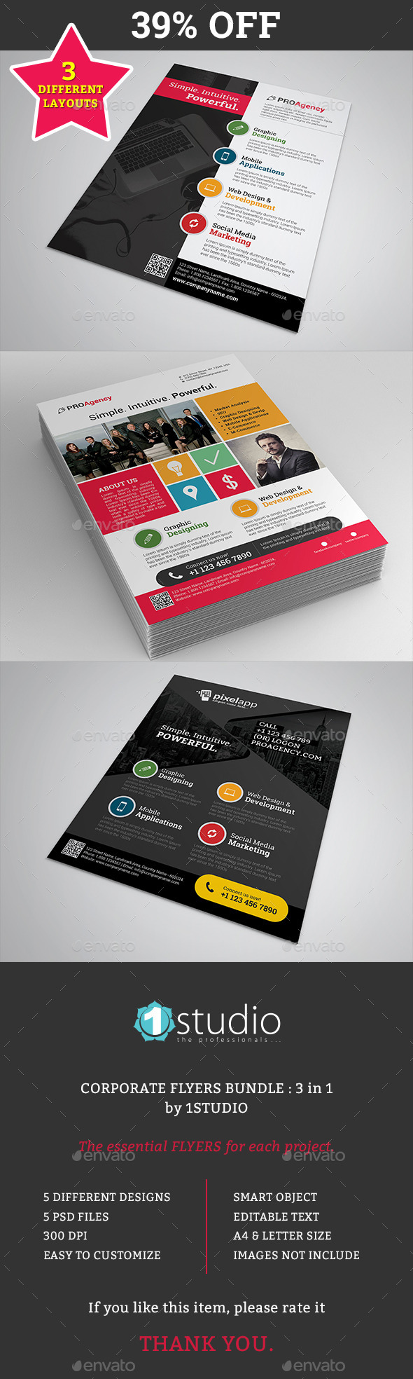 Flyers Bundle 02 - 3 in 1 - Corporate Flyers