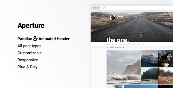 Aperture – Creative Portfolio with Parallax Cover Theme for Tumblr