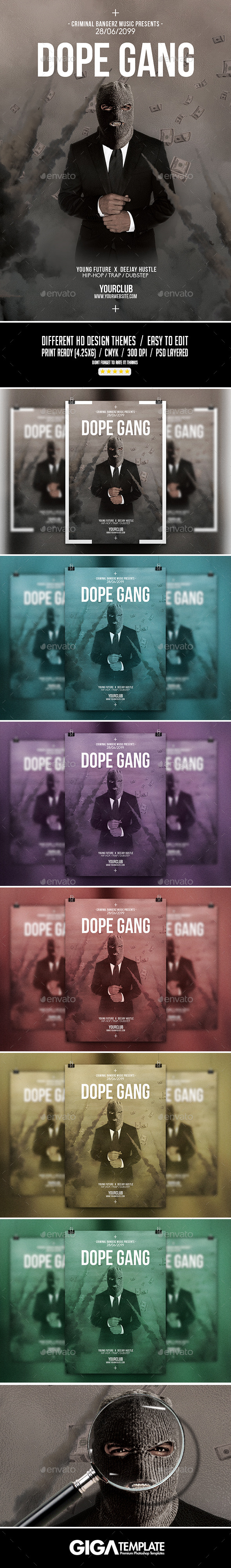 Dope Gang 2 | Futuristic Movie Flyer PSD Template - Events Flyers