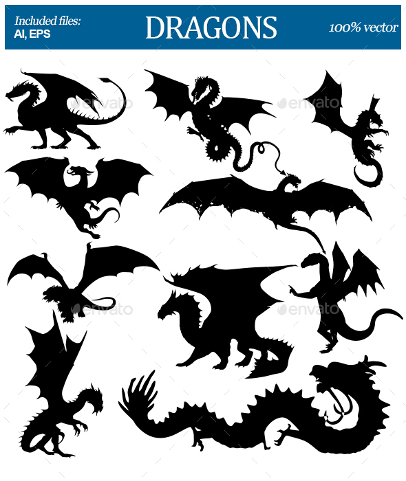 Dragons Silhouettes