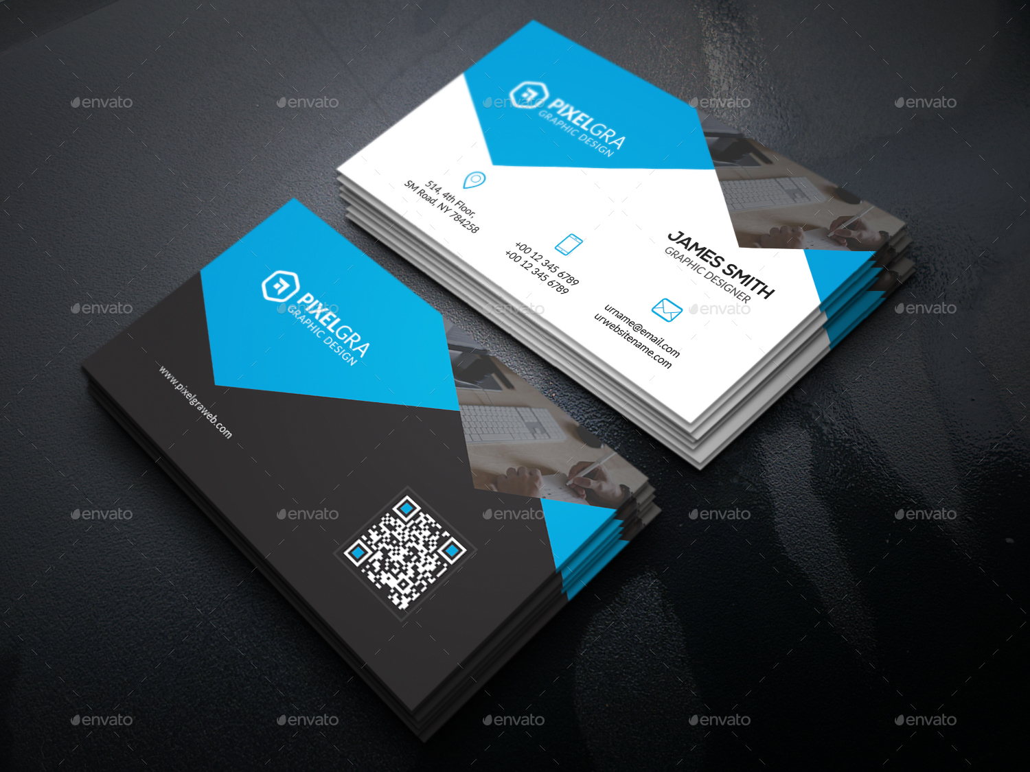 Custom Card Template professional business cards : Professional Business Cards Bundle by UXcred : GraphicRiver