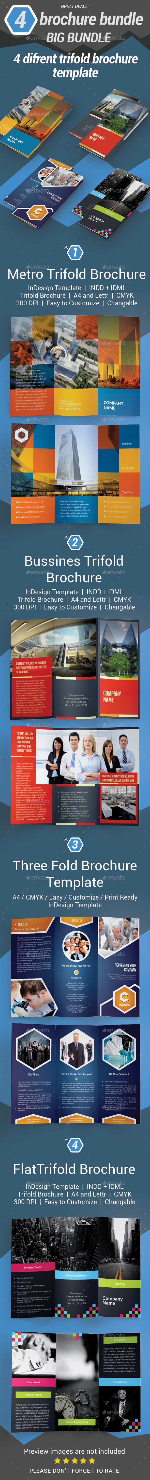 Trifold Brochure Bundle - Brochures Print Templates