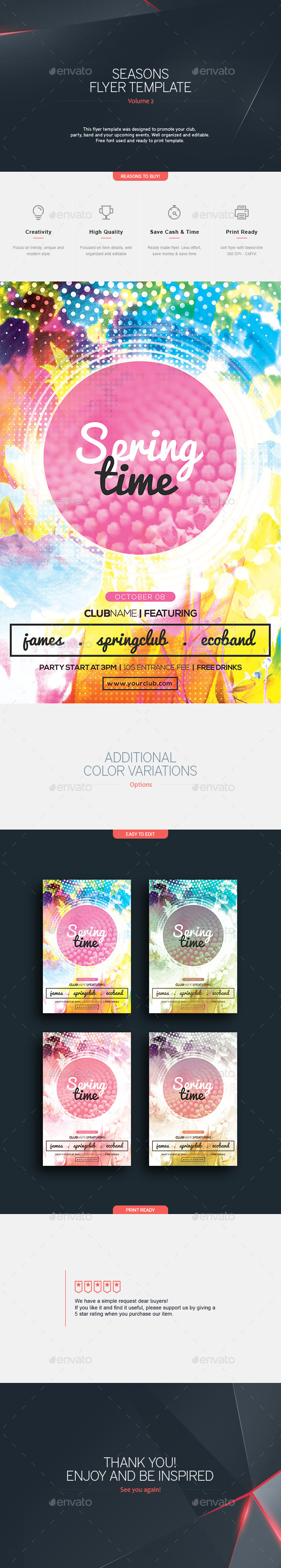 Spring Time Flyer Template