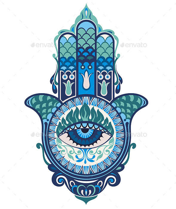 Hamsa Hand - Decorative Symbols Decorative