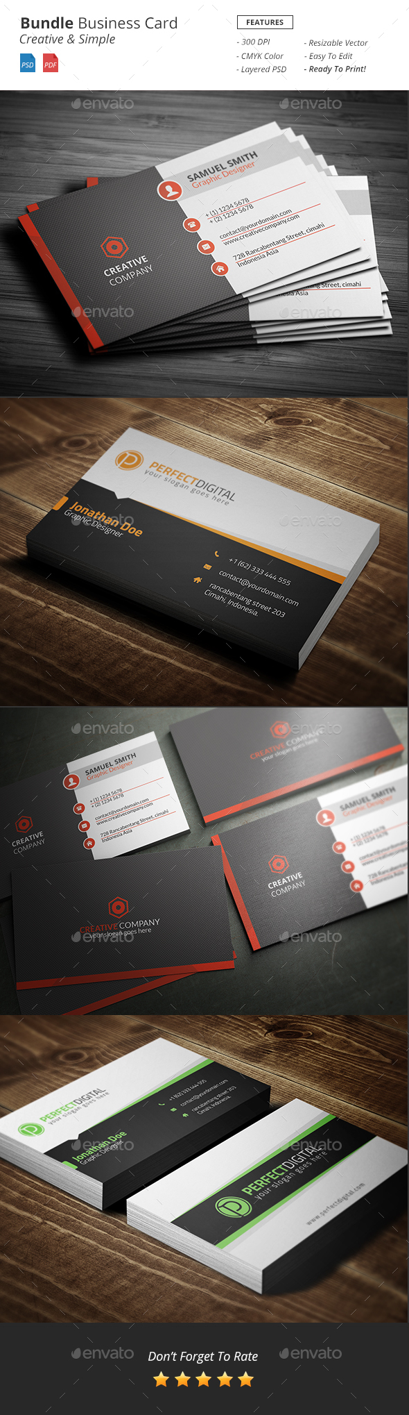 Bundle Business Card - Business Cards Print Templates