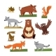 Wild Forest Animals Flat Style Set - GraphicRiver Item for Sale