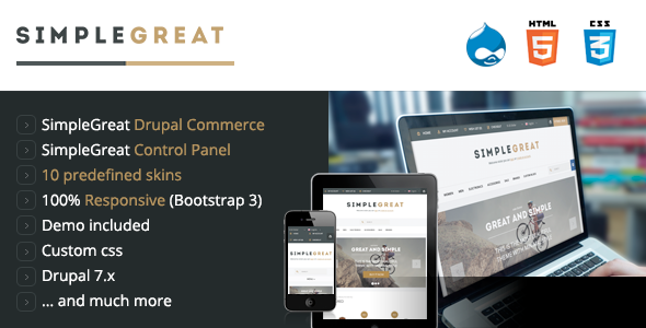 SimpleGreat - Drupal Commerce Theme - Shopping Retail