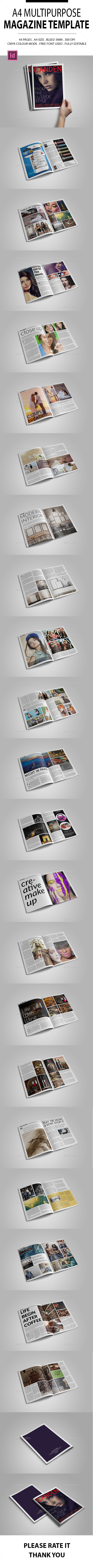A4 Multipurpose Magazine Template - Magazines Print Templates