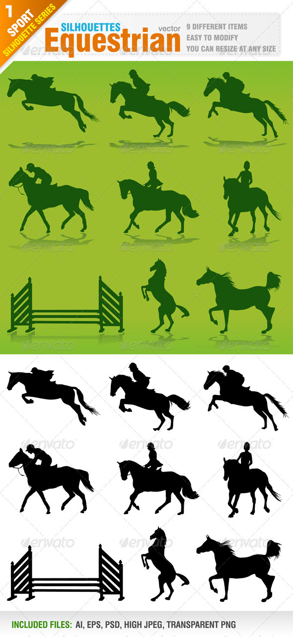 Equestrian Silhouettes - Sports/Activity Conceptual