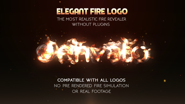 Elegant Fire Logo No Plugin