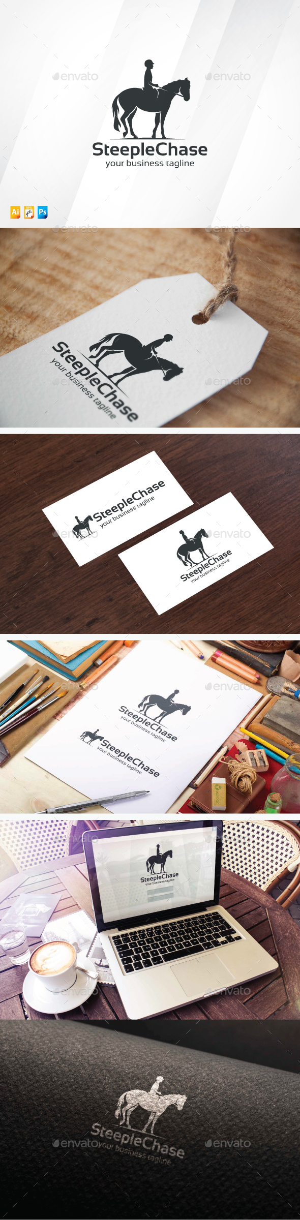 Horse Racing Logo - Animals Logo Templates