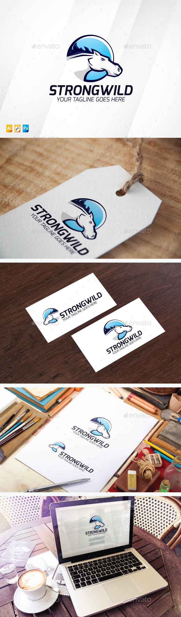 Strong Wild - Animals Logo Templates