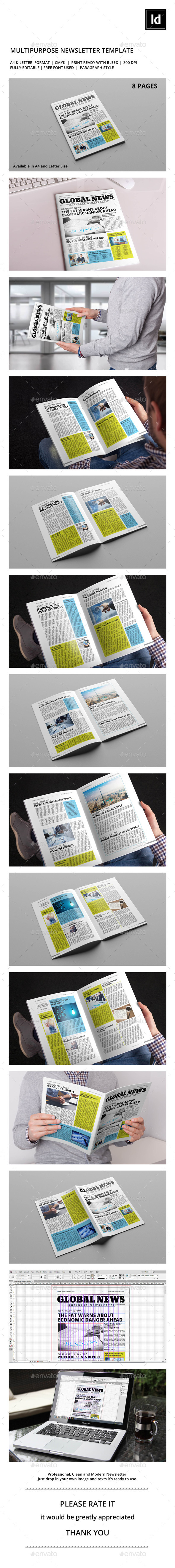 Business Newsletter Vol. 4 - Newsletters Print Templates