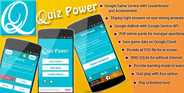 Quiz Power - CodeCanyon Item for Sale