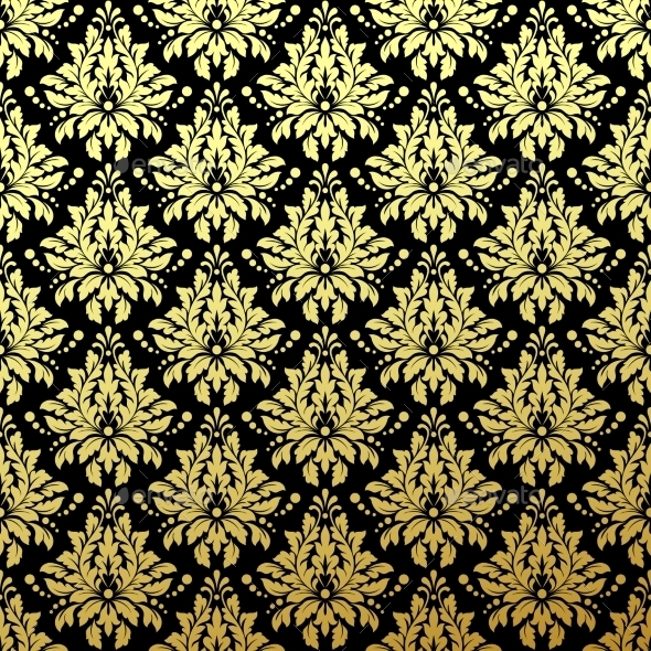 Luxury Golden Seamless Wallpaper Pattern - Patterns Decorative