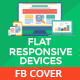 Flat Responsive Device Facebook Timeline Covers  - GraphicRiver Item for Sale