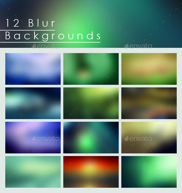 12 Blur Backgrounds