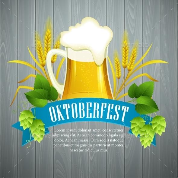Oktoberfest Background with Beer