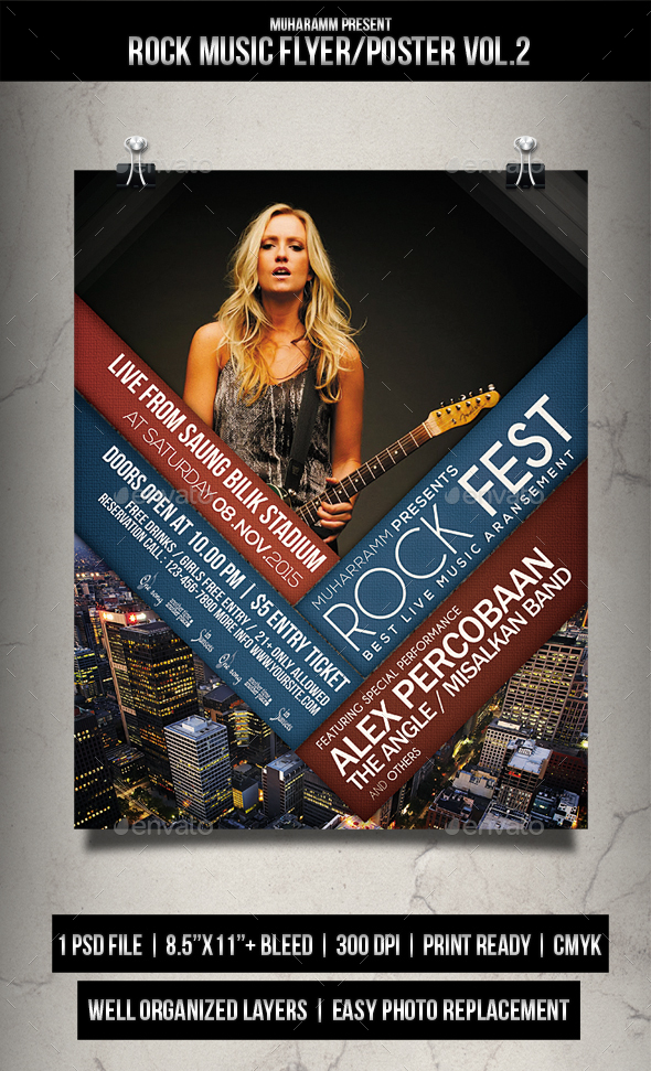 Rock Music Flyer / Poster Vol.2 - Events Flyers