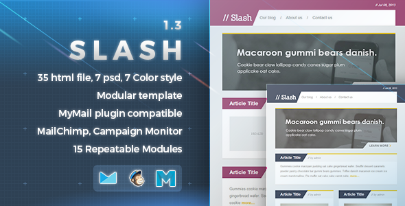 Slash - Responsive E-mail Template - Newsletters Email Templates