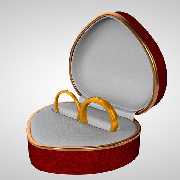 Heart box of rings