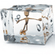 Creative Golden Man Inside Ice Cubes - GraphicRiver Item for Sale
