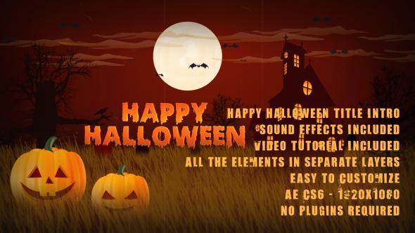 Happy Halloween Title Intro