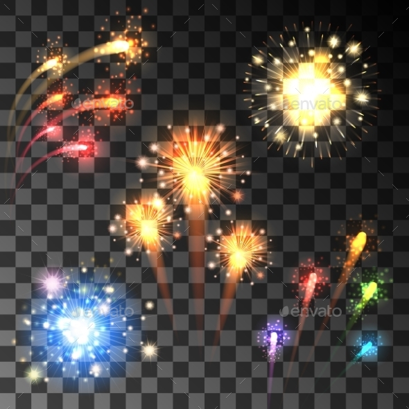 Festive Bursting Firework Set