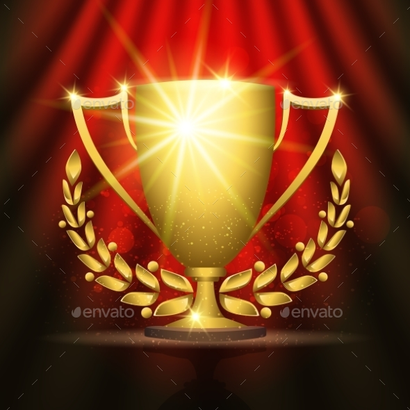 Golden Trophy Cup - Sports/Activity Conceptual