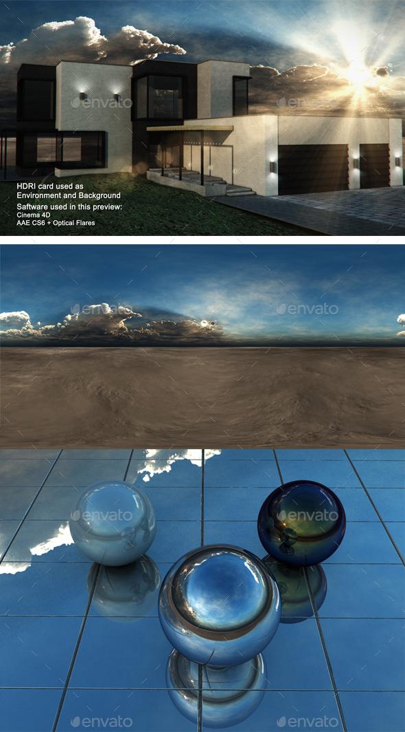 Sunset Desert 29 - 3DOcean Item for Sale