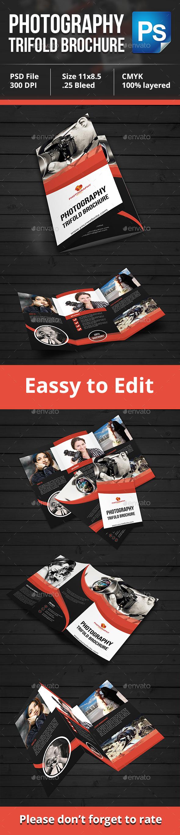 Photography Tri-Fold Brochure - Brochures Print