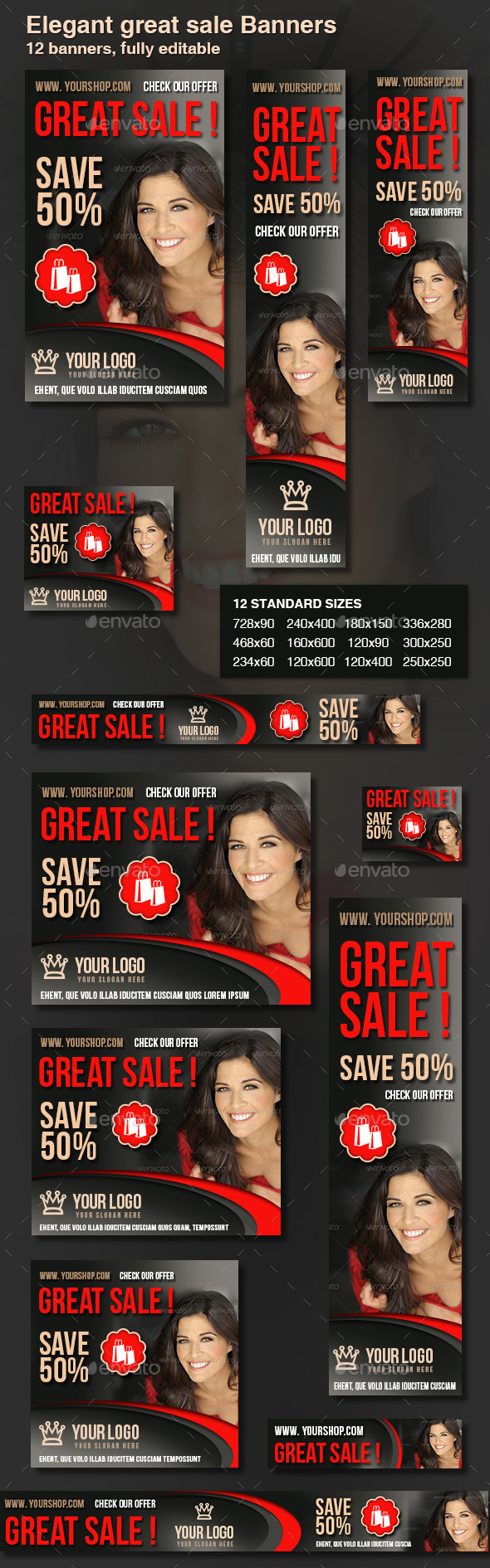 Sale Web Banners - Banners & Ads Web Elements